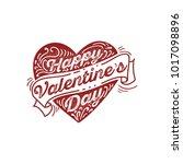 happy valentine's day vector...   Shutterstock .eps vector #1017098896