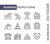 business people icons set... | Shutterstock .eps vector #1017102208