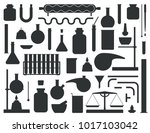 set of chemical lab equipment... | Shutterstock .eps vector #1017103042