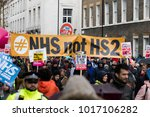 london  uk   february 3rd 2018  ... | Shutterstock . vector #1017106282