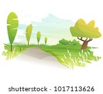 beautiful landscape background  ... | Shutterstock .eps vector #1017113626