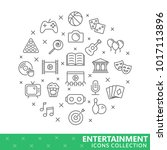 collection of entertainment... | Shutterstock .eps vector #1017113896