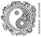 circular pattern in form of... | Shutterstock .eps vector #1017119638