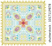 decorative colorful ornament on ... | Shutterstock .eps vector #1017119878
