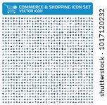 commerce icon set design | Shutterstock .eps vector #1017120232