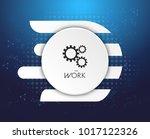 vector illustration gear wheel  ... | Shutterstock .eps vector #1017122326