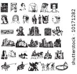 set of vector medieval pictures   Shutterstock .eps vector #10171282