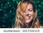 closeup photo of a young cute... | Shutterstock . vector #1017132115