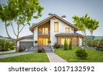 3d rendering of modern cozy... | Shutterstock . vector #1017132592