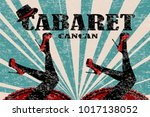 Cabaret Poster With Women Legs...