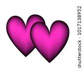 valentines day background vector | Shutterstock .eps vector #1017138952