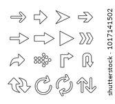 vector image of set of arrows...   Shutterstock .eps vector #1017141502