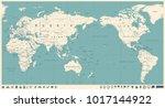 vintage political world map... | Shutterstock .eps vector #1017144922