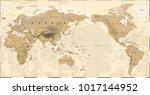 vintage political physical... | Shutterstock .eps vector #1017144952