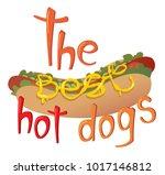 raster hotdog illustration. the ...   Shutterstock . vector #1017146812