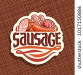 vector logo for sausage  cut... | Shutterstock .eps vector #1017150886
