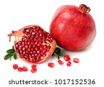 pomegranate isolated on white... | Shutterstock . vector #1017152536