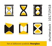 hourglass symbols and icons for ...   Shutterstock .eps vector #101715418