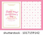 happy valentines day typography ... | Shutterstock .eps vector #1017159142