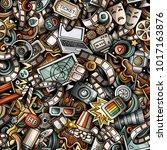 cartoon cute doodles cinema... | Shutterstock .eps vector #1017163876
