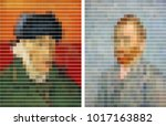 self portrait  by post... | Shutterstock .eps vector #1017163882