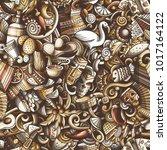 cartoon cute doodles latin... | Shutterstock .eps vector #1017164122