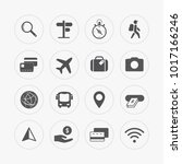 simple travel icons set. | Shutterstock .eps vector #1017166246