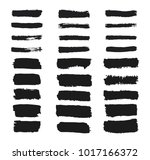 collection of grunge rectangle... | Shutterstock .eps vector #1017166372