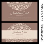 invitation card design  ... | Shutterstock .eps vector #1017167302