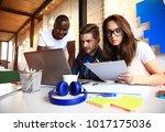 startup diversity teamwork... | Shutterstock . vector #1017175036