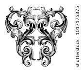 classical baroque vector of... | Shutterstock .eps vector #1017175375