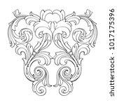 classical baroque vector of... | Shutterstock .eps vector #1017175396