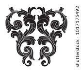 classical baroque vector of... | Shutterstock .eps vector #1017175492