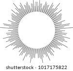 halftone circular line vector... | Shutterstock .eps vector #1017175822