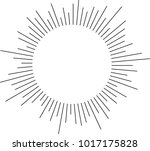 halftone circular line vector... | Shutterstock .eps vector #1017175828