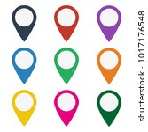 colorful set of map markers on... | Shutterstock .eps vector #1017176548