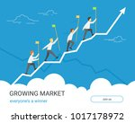 growing markets for winners.... | Shutterstock .eps vector #1017178972
