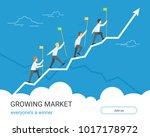 growing markets for winners.... | Shutterstock .eps vector #1017178972