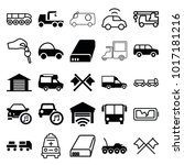 auto icons. set of 25 editable... | Shutterstock .eps vector #1017181216