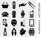 hand icons. set of 16 editable... | Shutterstock .eps vector #1017181336