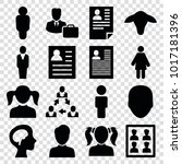 profile icons. set of 16... | Shutterstock .eps vector #1017181396