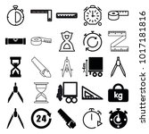 measure icons. set of 25... | Shutterstock .eps vector #1017181816