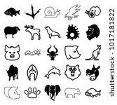 wildlife icons. set of 25... | Shutterstock .eps vector #1017181822