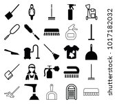 cleaner icons. set of 25... | Shutterstock .eps vector #1017182032