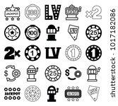 jackpot icons. set of 25... | Shutterstock .eps vector #1017182086