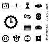 time icons. set of 13 editable... | Shutterstock .eps vector #1017184006