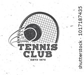 tennis club badge. vector... | Shutterstock .eps vector #1017187435