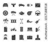 auto workshop glyph icons set.... | Shutterstock .eps vector #1017188518