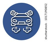line icon of flying car with... | Shutterstock .eps vector #1017190852