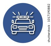 line icon of police car with... | Shutterstock .eps vector #1017190882